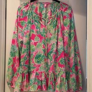 Lily Pulitzer Jungle Floral Top